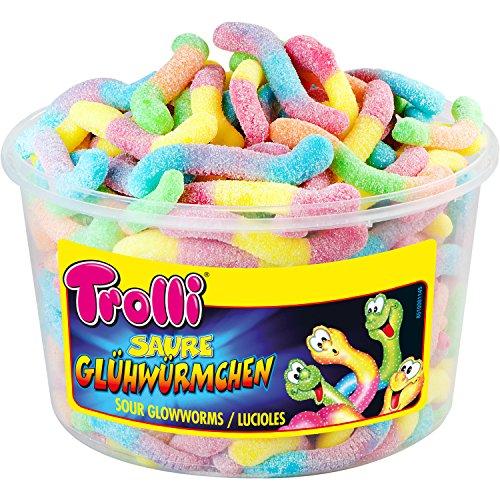 Trolli - Glühwürmchen - Fruchtgummi - sauer - Box - 1050 Gramm