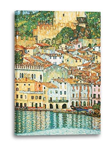 Printed Paintings Leinwand (60x80cm): Gustav Klimt - Malcesine am Gardasee (1913)