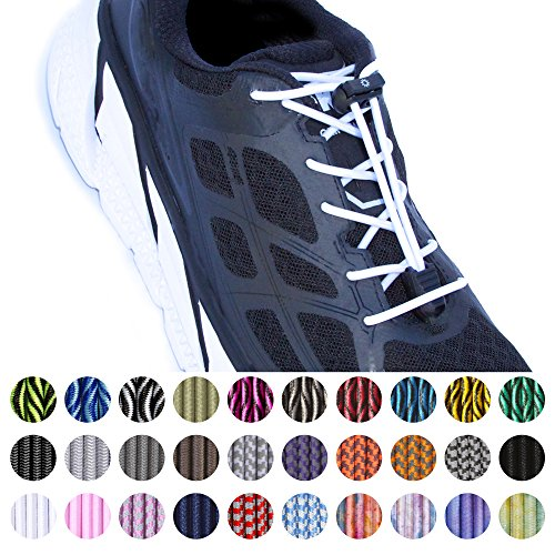 No Tie Shoelace Locks Elastic Shoe Lace for Men Women Adults Kids Sneakers Boots Dress Shoes Ties No-tie Laces Shoelaces System Lock for Running Hiking Marathon Triathlon Athletic & more