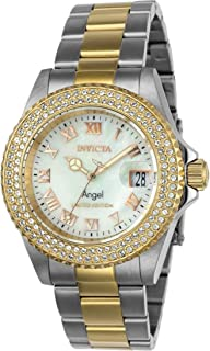 Invicta Cruiseline 40mm Ladies Stainless Steel Gold Limited Edition Quartz Crystal Accented Two Tone Watch