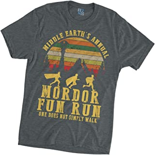 Middle Earth's Annual Mordor Fun Run One Does Not Simply Walk Lord of The Ring Vintage T-Shirt