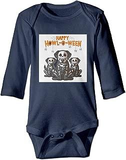Baby Long-Sleeve Bodysuit Happy Hall-o-ween Skull Dog Baby Boys Girls