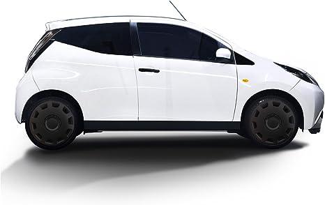 Autoteppich Stylers Größe Wählbar 14 Zoll Radkappen Radzierblenden Gani Schwarz Passend Für Fast Alle Fahrzeugtypen Universal Auto
