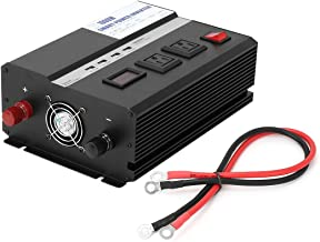 uxcell 1000W Car Power Inverter 12VDC to 2 110VAC US Outlets Modified Sine Wave Inverter 5VDC 2.4A USB Charging Ports Car Adapter Black