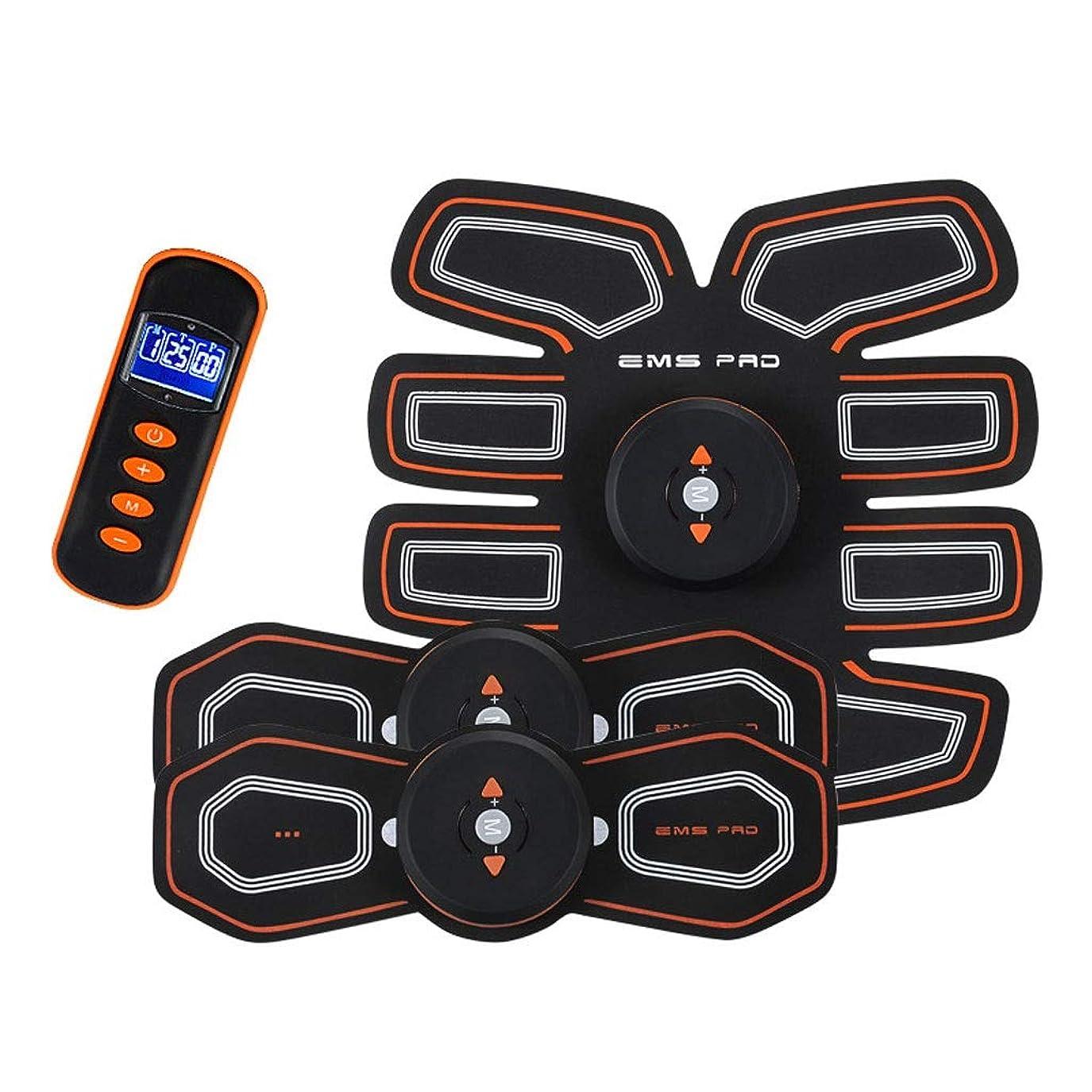 温かい報復浸漬EMS AbsトレーナーAbベルト、腹部調色ベルト、腹筋刺激装置、ABSマシンAbベルト調色ジムワークアウトマシン用男性&女性 (Size : B)