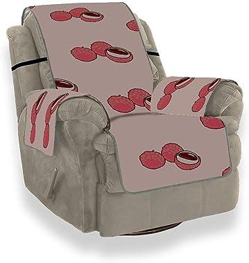 """Sweet Cool Summer Lychee Fruit Chair Housse inclinable Chaise Simple Housse de canapé Coussin 21""""Protecteur de Meubles po"""