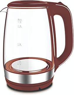 Jac NGK-08D Electric Kettle, 1.7 Liter - Red Clear
