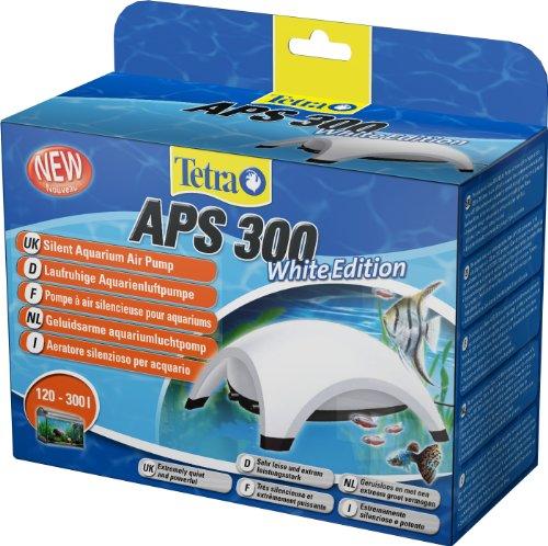Tetra APS 300 Aquarium Luftpumpe - leise Membranpumpe für Aquarien von 120-300 L, weiß