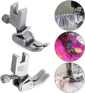 thanksky Adjustable Shirring/Ruffler Presser Foot Industrial Computerized Lockstitch Sewing Machine Parts Steel