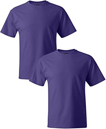 Hanes Mens Short Sleeve Beefy-T Pack of 2 Fashion Clothing, Shoes ...