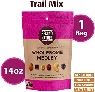 Second Nature Wholesome Medley Trail Mix - Healthy Snack Blend - Gluten Free, 14 oz Resealable Pouch