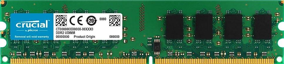 Crucial CT12864AA800 - Memoria RAM de 1 GB (DDR2, 800 MHz, PC2-6400, Unbuffered, DIMM, 240-Pin)