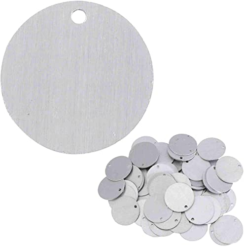 popular Stamping Blanks - 1.25 Inch wholesale Round Circle new arrival with Hole - Aluminum 0.063 Inch (14 Ga.) - 50 Pack outlet sale