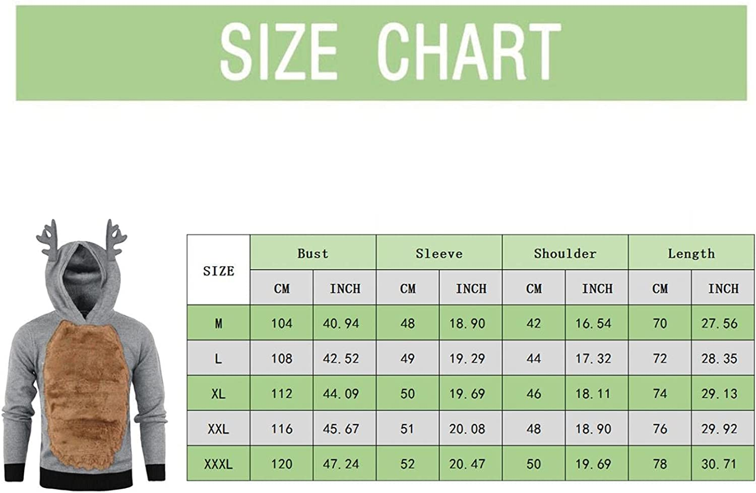 PHSHY Mens Winter Ugly Christmas Pullover Tops Fuzzy Fleece Hoodies Patchwork Color Comfy Soft Xmas Sweatshirts Blouses