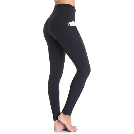 Ollrynns Legging de Sport Femme Taille Haute Pantalon de Fitness Leggins avec Poches pour Femmes Yoga Gym Jogging CA166