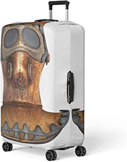 Luggage Cover Ancient 3D Rendering Brass Diving Helmet Steam Punk Travel Suitcase Cover Protector Baggage Case Fits 26-28 inches