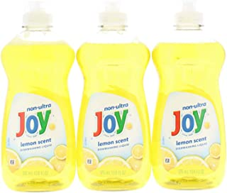 3 Pk. Joy Non-Ultra Dishwashing Liquid Lemon Scent 12.6 Fl Oz (37.8 Fl. Oz Total)