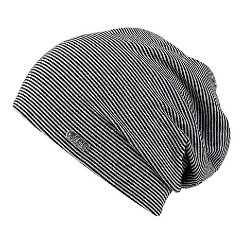 Chillouts Pittsburgh Bonnet Long, 10 Black/Grey, Einheitsgröße Mixte