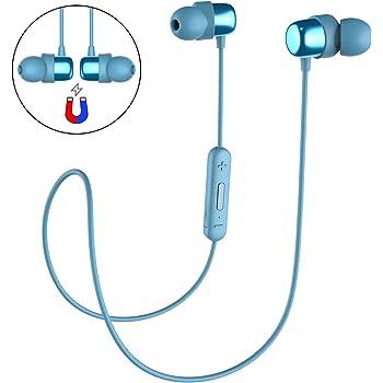 HAVIT Ecouteur Bluetooth Sans Fil V4.2 & IPX5, Oreillette Bluetooth pour sport & jogging, microphone intégré(Blue)