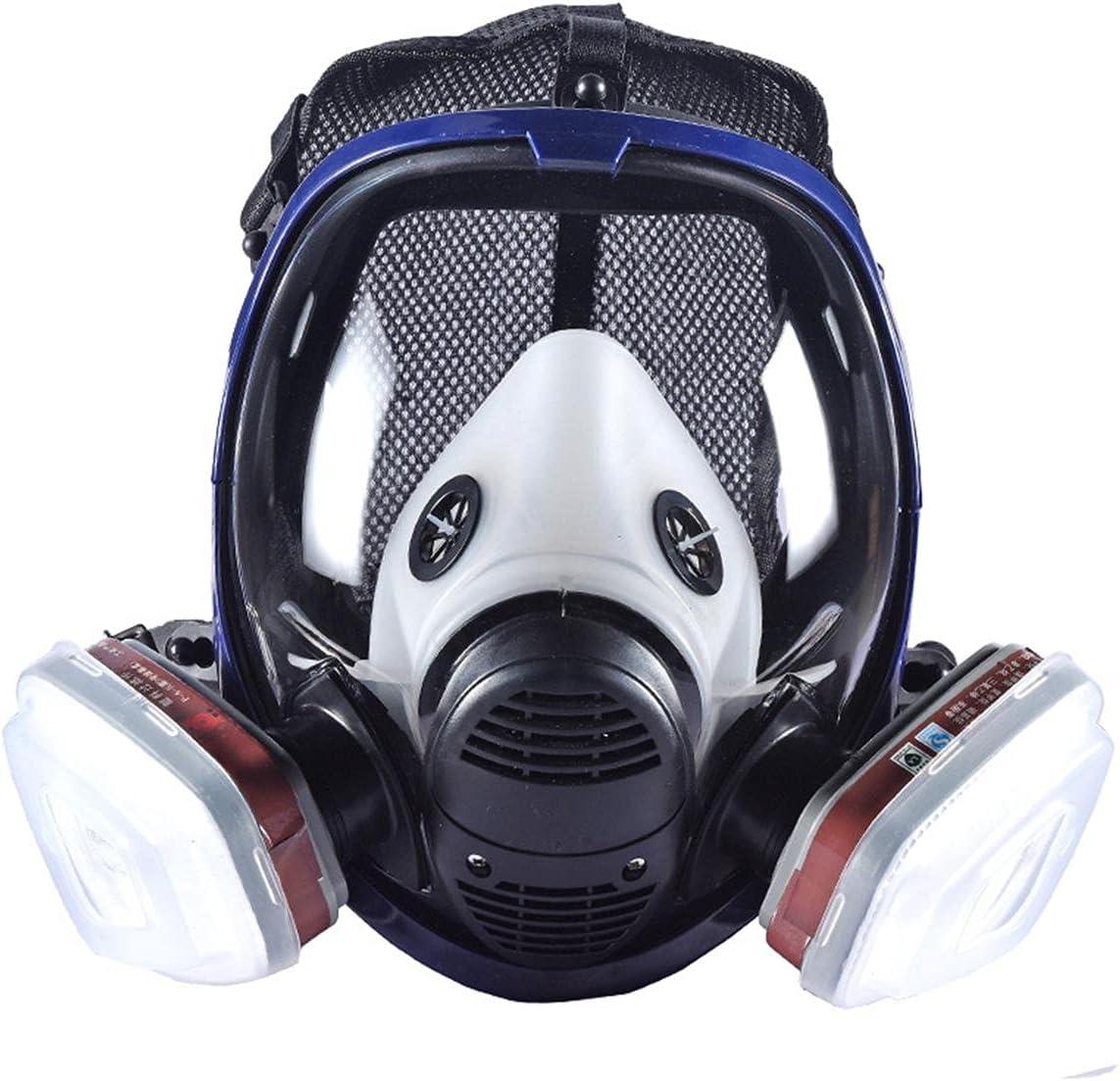 Máscara Química De Gas, 7 En 1 Respirador De Polvo Ácido, Cartucho De Filtro De Gas Orgánico, Utilizado Para Gas Orgánico, Pintura, A Distancia, Polvo De Ácido, Pesticida, Protección