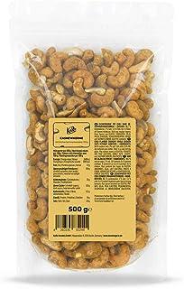 KoRo - Cashewnoten met Kerrie zonder smaakversterker 500 g - Cashewnoten als geraffineerde snack met specerijen