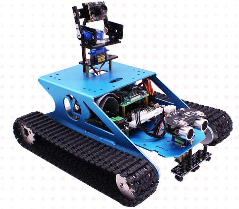 Homyl Raspberry Pi 3B+ Smart RC Metal Robot Tank Car DIY Kit with HD Camera,Robotics Smart Educational Toy