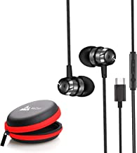 WeCool Mr.Bass Snug Fit Metallic in-Ear Earphones for Mobile with Mic high Bass Headphones for Mobile Wired Earphones with...