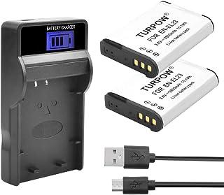 Turpow EN-EL23 - Cargador de batería para cámara (2 unidades incluye cargador LCD USB compatible con ENEL23 EN EL23 Compatible con Nikon Coolpix P600 P610 P610s B700 P900 P900s S810c SLR