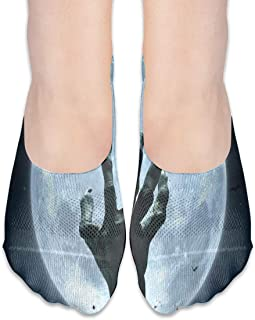 Calcetines Halloween Zombie Hand Grave Full Moon Fabulous Womens Low Cut Calcetines atléticos invisibles para niña