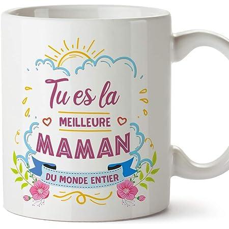 Mugffins Tasse/Mug pour Maman - Meilleure Maman (modèle 1) - Idée Cadeau Fête des Mères/Anniversaire Originale