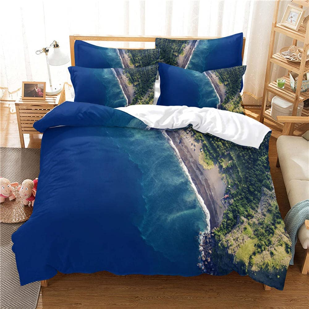 LWXTYJ Popular brand in the world Raleigh Mall Seaside Scenery Bedding Pieces Microfiber 3 Lightweight