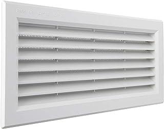 La Ventilation P31R13B kratka wentylacyjna prostokątna z tworzywa sztucznego biała do montażu z siatką przeciw owadom wymi...