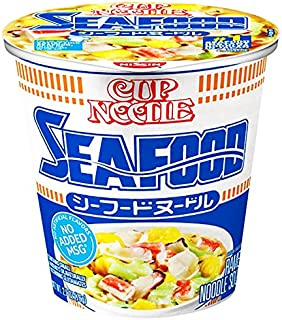 Nissin Cup Ramen Noodle Soup, Seafood, 2.68 Ounce (Pack of 6)