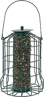 Sunnydaze Outdoor Hanging Wild Bird Feeder, Metal Wire Cage, 10 Inch, Green