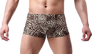 Men's Fashion See Through Lace Floral Boxer Briefs Shorts Underwear