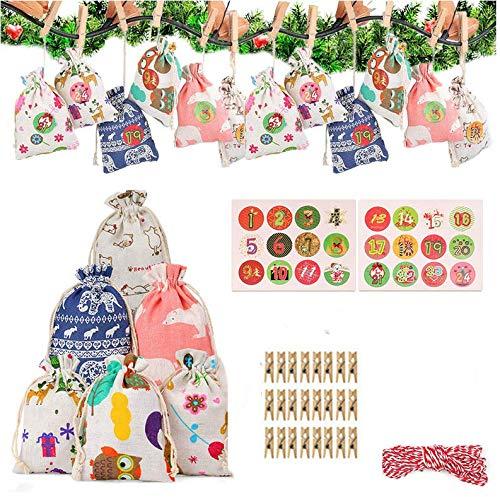 Queta 24pcs 6 Farben Viele bunte Taschen 10x14cm Beutel für Hochzeit, Schmuck, Süßigkeiten Weihnachten Hochzeitsfeier Dekoration