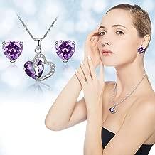 Cnebo Fashion Women Rose Gold Plated Morganite Diamond Cut Cubic Zirconia Heart Shaped Engagement Ring Elegant Wedding Band Jewelry