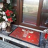 1art1 Weihnachten – Rudolph Das Rentier Fußmatte Innenbereich und Außenbereich | Design Türmatte 70 x 50 cm - 2