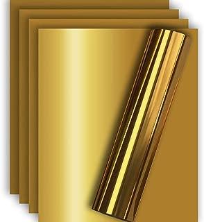 Gold Metallic HTV Heat Transfer Foil Vinyl for Tshirt and Apparel 12