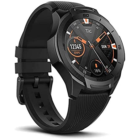 Ticwatch S2 Smartwatch, US Military-Grade Durability, Waterproof 5 ATM, Build-in GPS, Heart-Rate Monitor, Wear OS by Google Sports Smart Watch, Compatible with Android and iOS, Black