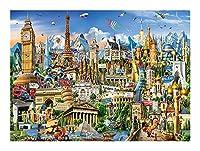 1000年ピースジグソーパズル風景柄、子供のパズルのおもちゃ、休日パズル玩具、理知的な教育、アダルトチルドレンギフトパズル、ファミリーギフト、(マルチカラー、1000PC) SYLOZ