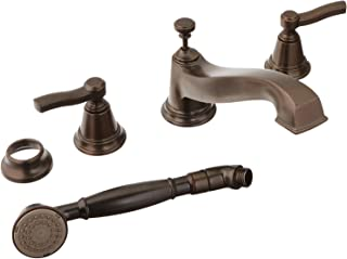 Moen TS925ORB Rothbury Two-Handle Low Arc Roman Tub Faucet and Hand Shower without Valve, Oil-Rubbed Bronze