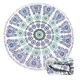 Genovega Thick Round Beach Towel Blanket - Indian Bohemian Boho Mandala Circular Circle