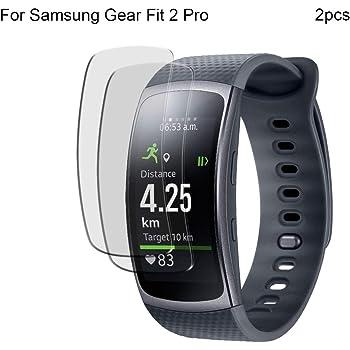 NAttnJf Pellicola salvaschermo a 2 Strati in Vetro temperato per Samsung Gear Fit 2 PRO