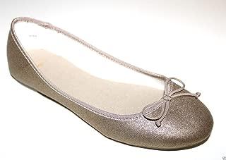 GAP Women's Matte Shimmer Metallic Gold Ballet Flats Shoes - No Box
