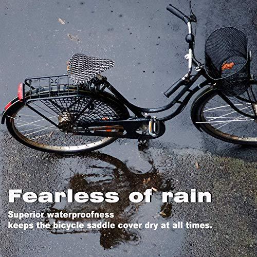 Wasserdichte Fahrradsattelabdeckung,elastische Wasserfeste Fahrradsattel Schutzhülle, Passend für den Meisten Fahrradsattel wie Rennrad, Mountainbike, Damenrad, E-Bike u.s.w.(2-PACK -Upgrade) - 6