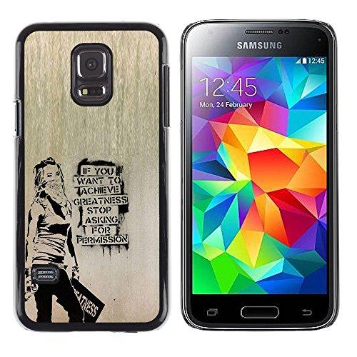 Superstar // Immagine Fredda Custodia Rigida Calotta di Protezione del PC Hard Case Protective Cover for Samsung Galaxy S5 Mini, SM-G800 / Banksy Graffity /