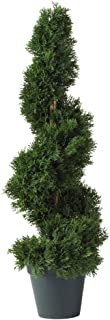 Nearly Natural 5160 2ft. Cedar Spiral Silk Tree (Indoor/Outdoor)