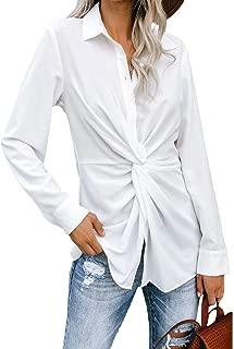 Women's Summer Long Sleeve Collared Button Down Shirt...