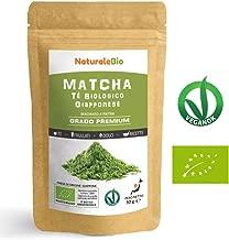 Tè Verde Matcha Biologico in Polvere [ GRADO PREMIUM ] da 50 grammi   The Matcha Prodotto in Giappone Uji, Kyoto   Ideale da Bere, per i Dolci, Frullati, Tè freddo, nel Latte e come ingrediente.